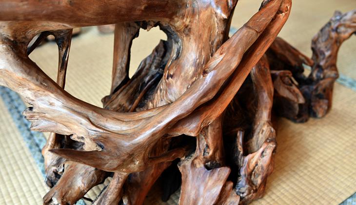 和テーブル 焼き杉(139cm×53cm)
